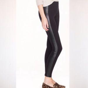 J Crew Pixie Pant in Leather Tuxedo Size 2